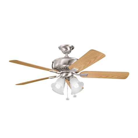 kichler ceiling fans with lights kichler lighting 339401 4 light saxon premier ceiling fan