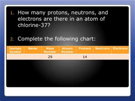 protons neutrons and electrons calculator ppt how many protons neutrons electrons are present