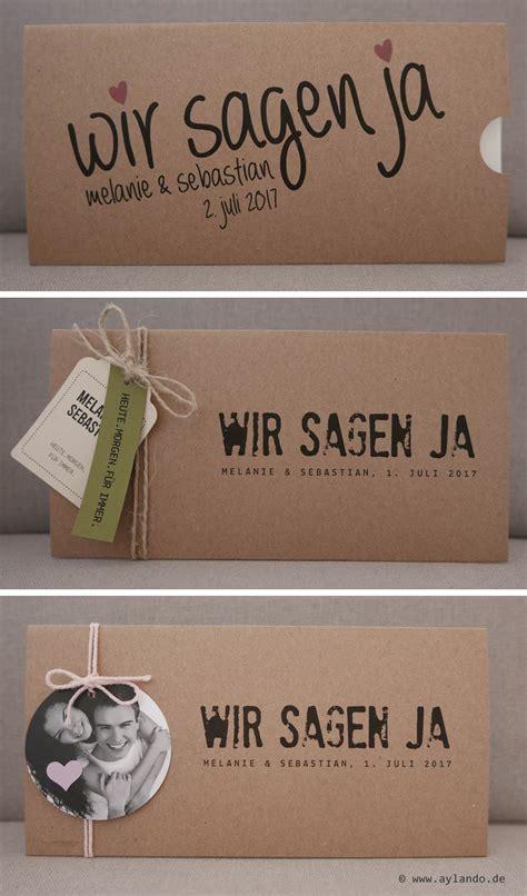 Hochzeitseinladung Natur by Aylando Hochzeitskarten Hochzeitseinladungen Naturpapier