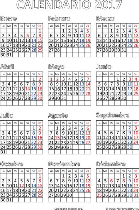 Calendario Gratis 2017 M 225 S De 1000 Ideas Sobre Calendario 2017 En