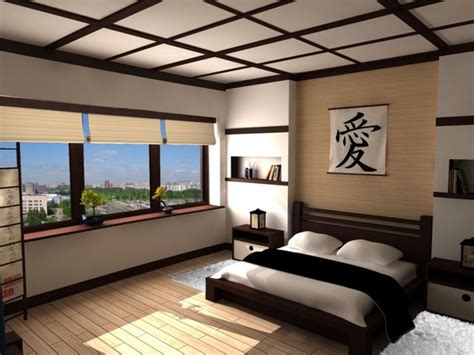zen inspired japan bedroom