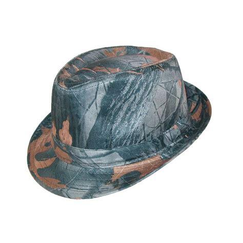 Chapeau Claudette Headwear For Season by 3 Oaks S Camo Print Fedora All Season Hat This