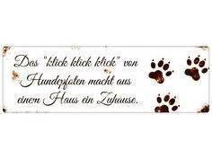 Aufkleber Hundenasenkunst by Blechschild Shabby Ein Zuhause Ohne Hund Schild