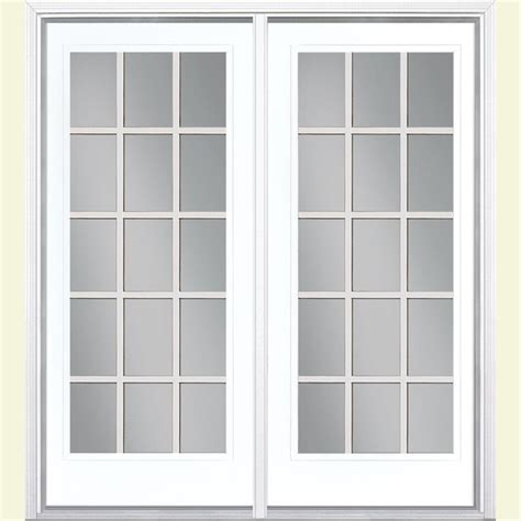 Masonite 72 In X 80 In Ultra White Prehung Right Hand Masonite Patio Doors