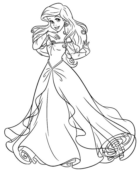 cute ariel coloring pages disney cute kawaii resources page 2
