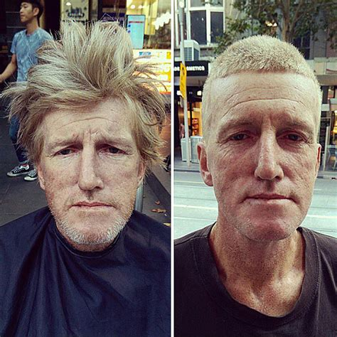 homeless haircuts before and after badass barber gives free haircuts to homeless while