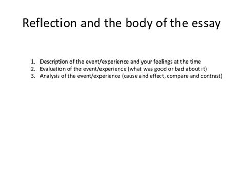Do My Best Reflective Essay by How To Write A Reflective Essay