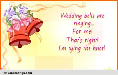 Wedding Bells Are Ringing by Wedding Bells Are Ringing Free Announcement Ecards