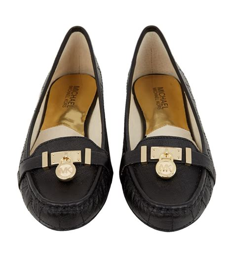 michael kors black loafers michael michael kors hamilton leather loafer in black lyst