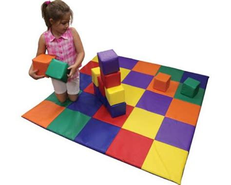 Mat And Blocks by Patchwork Floor Mat And Soft Play Blocks