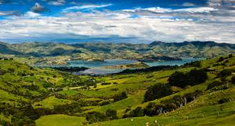 view from hilltop tavern akaroa harbour another