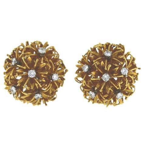 david webb gold dandelion earrings for sale at 1stdibs
