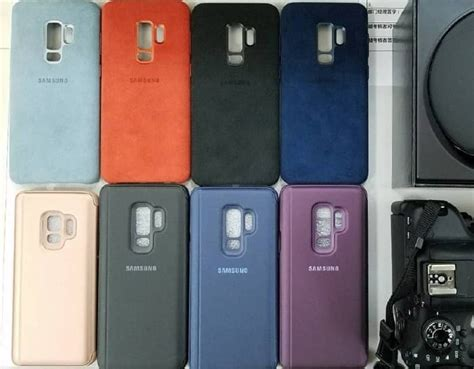 Casing Samsung Galaxy S9 S 9 Plus 2018 Flip Mirror Auto Lock official samsung galaxy s9 plus cases leaked geeky gadgets