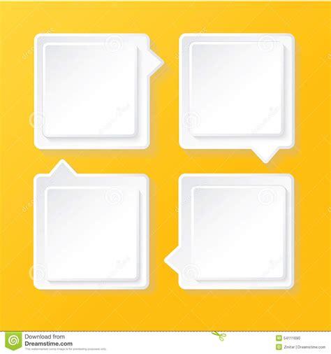 Modern Paper - white modern paper banners set stock vector image 54111690