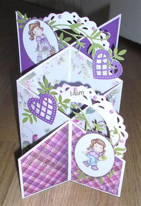 Martha Stewart Handmade Cards - cascading card with 2 magnolia tilda sts magnolia