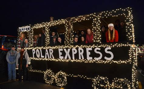 polar express float ideas parade of lights brings magic to medina orleans hub