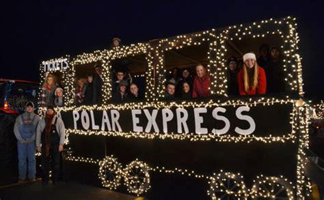 polar express float ideas parade of lights brings magic to medina orleans hub