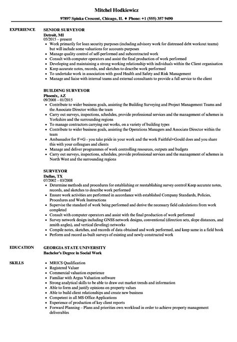 Cover Letter For Land Surveyor Resume by Land Surveyor Resume Exles Surveying Sle Survey