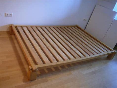 futonbett ohne matratze bett 140 x 200 buche massiv mit lattenrost ohne