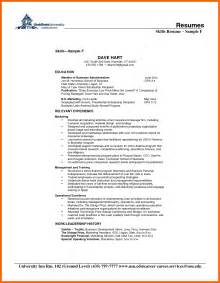 8 resume skill exles credit letter sle