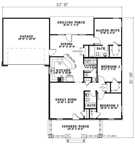 single story bungalow house plans 20 best images about house plans on pinterest house plans bungalows and garage