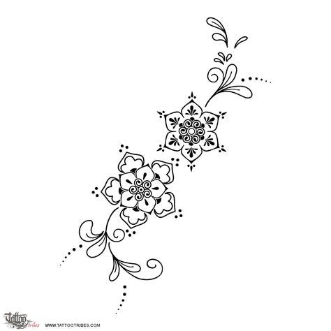 henna tattoo flower of mehndi flowers fertility rebirth