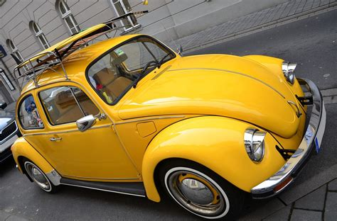 volkswagen bug yellow free photo vw beetle yellow beetle free image on