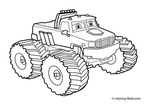 coloring pages monster trucks monster truck coloring page for kids monster truck