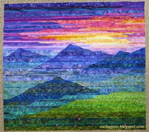 25 best ideas about landscape quilts on