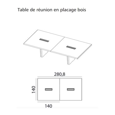 table de r 233 union rectangulaire s 233 rie x10 finition