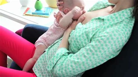 breastfeeding     straddle position video
