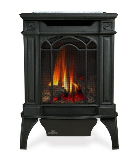 Small Gas Fireplace Stove napoleon gds20 arlington gas fireplace stove small cast