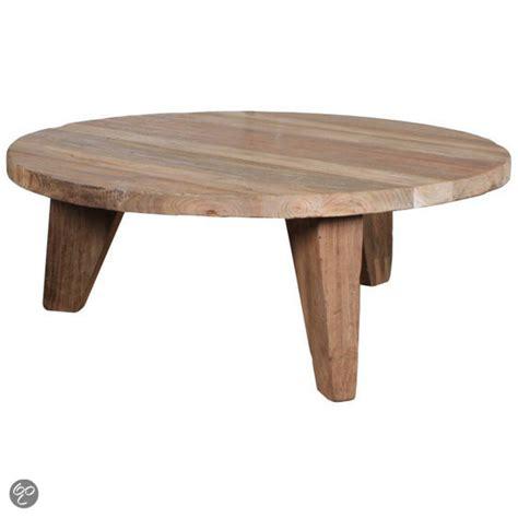 ronde salontafel hout ikea bol hkliving ronde houten salontafel wonen