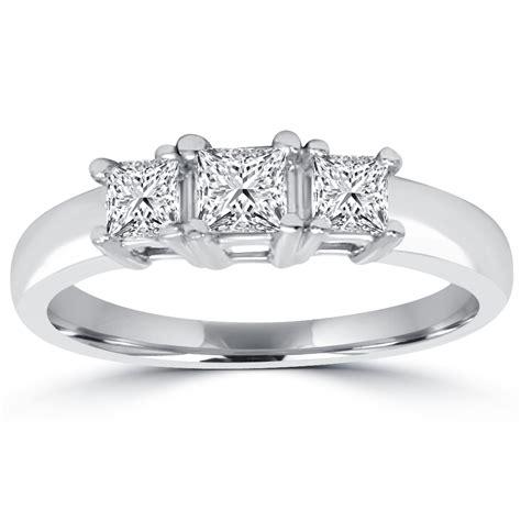 1 cttw 3 princess cut anniversary ring 14k