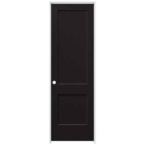jeld wen 30 in x 96 in smooth 2 panel black solid