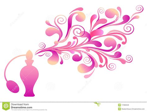 Scent Design by Perfume Bottle With Floral Scent Stock Photos Image