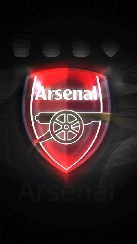 iphone wallpaper hd arsenal arsenal logo wallpaper full hd for mobile pinofy net