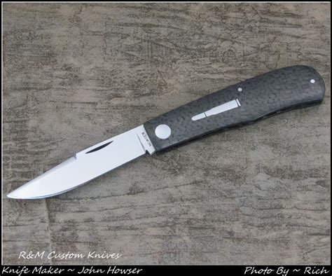 shadow pattern knife john howser r m custom knives