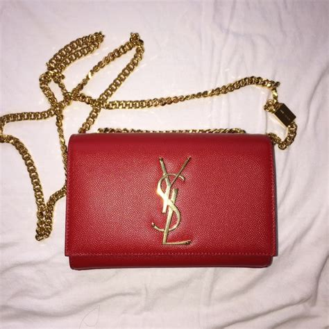 saint laurent soldysl monogramme crossbody red
