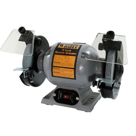 home depot bench grinder black bull 120 volt 6 in heavy duty bench grinder 800319