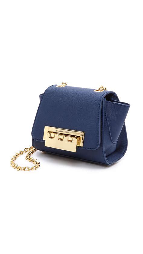 New Zac Posen Handbags by Lyst Zac Zac Posen Eartha Mini Leather Cross Bag In