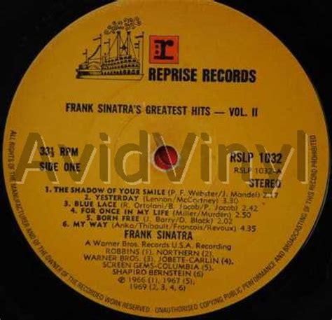 Cd Frank Sinatra Greatest Hits Vol2 frank sinatra greatest hits volume 2 vinyl records lp