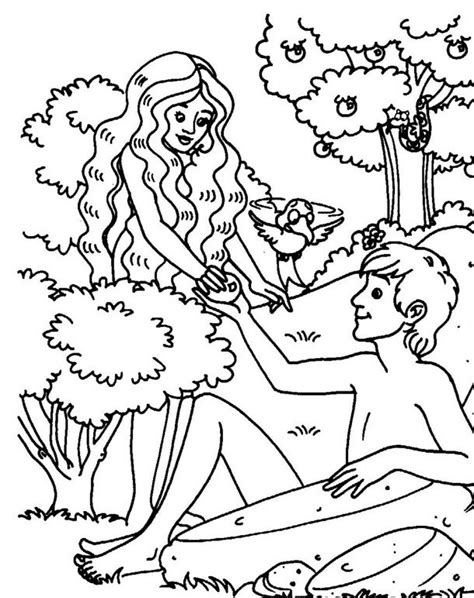 Coloring Page Adam And by Adam And Color Sheets