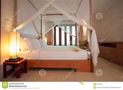 The Sleeping Room by Sleeping Room With Four Poster Bed Royalty Free Stock
