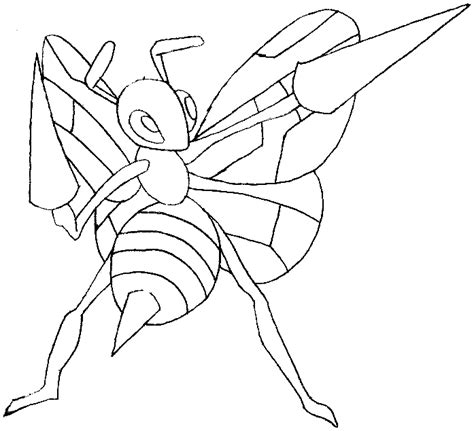 pokemon coloring pages beedrill how to draw beedrill from pokemon in easy steps lesson