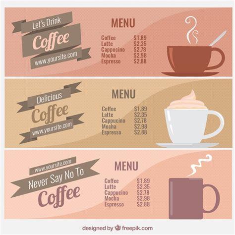 Vintage coffee menus collection Vector   Free Download