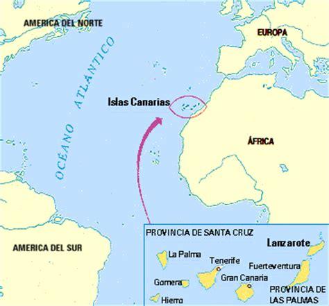 islas canarias y africa mapa historia de lanzarote