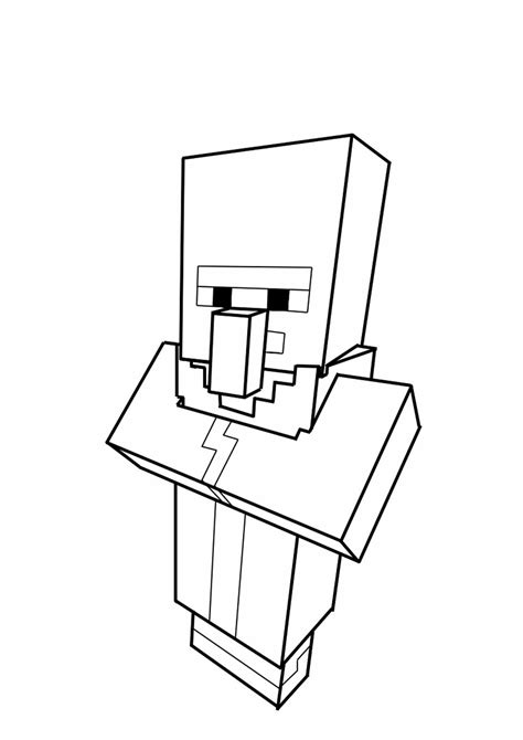 villager coloring page villager minecraft coloring coloring pages for kids