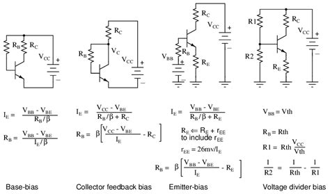 transistor lifier bias calculator biasing calculations bipolar junction transistors electronics textbook