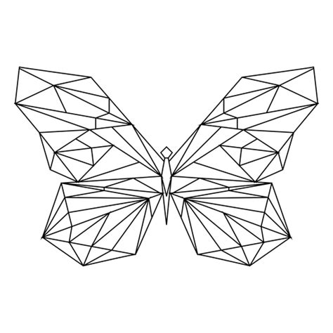 geometric butterfly stroke icon transparent png svg